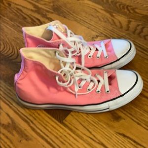 Pink Converse High Top Sneakers Size 10/Size 8